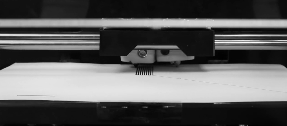 An actuator 3D printed on plain copy paper. Photo via Morphing Matter Lab.