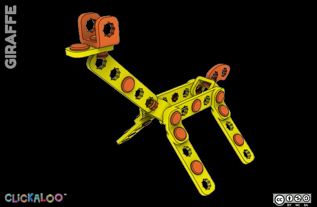 Clickaloo giraffe playset. Image via Clickaloo
