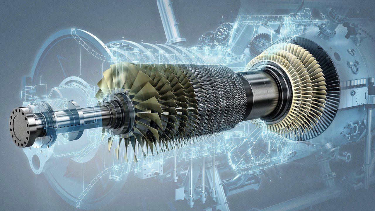 Siemens' aeroderivative SGT-A05 gas turbine. Image via Siemens.