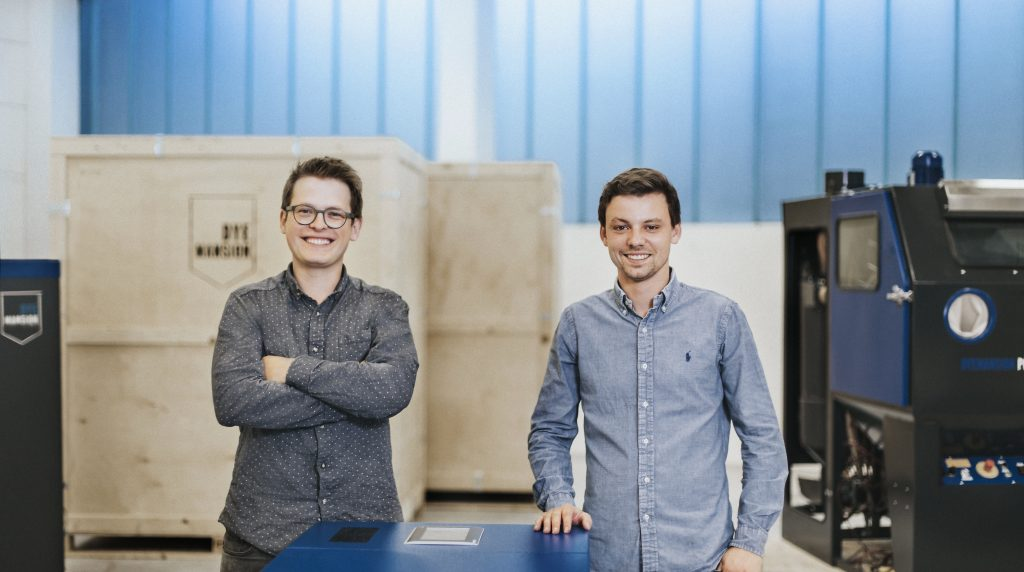 DyeMansion co-founders Felix Ewald and Philipp Kramer, . Photo via DyeMansion