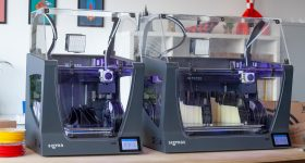 The Sigma and Sigmax R19 3D printers. Photo via BCN3D Technologies.