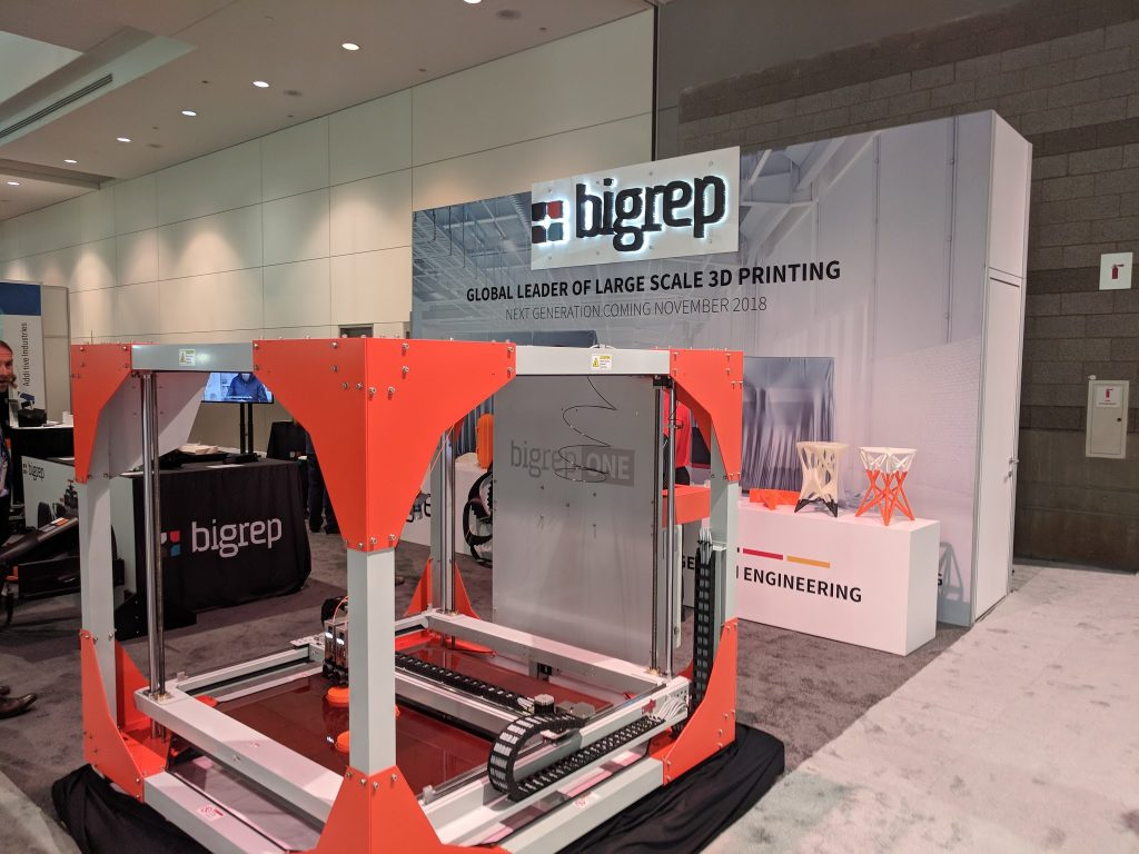 BigRep at IMTS 2018. Photo by Michael Petch.