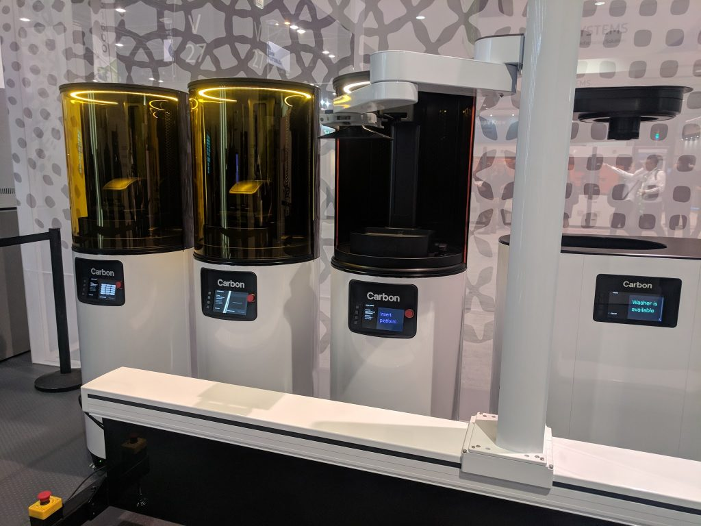 Carbon demo manufacturing cell at IMTS 2018. Photo by Michael Petch.