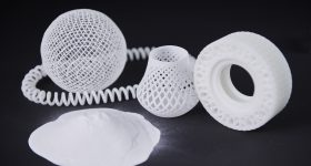Samples 3D printed from ALM TPE 360 Co-Polyester Elastomer laser sintering material Photo via RPS