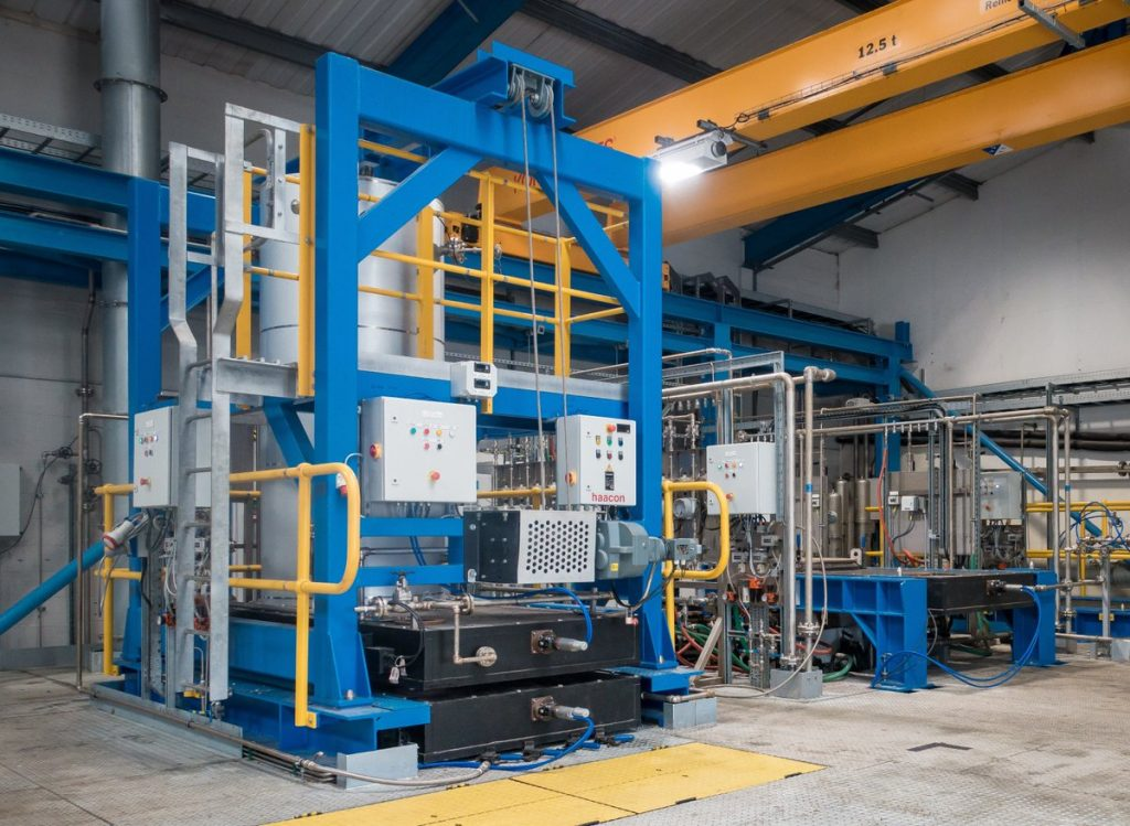The Generation 4 industrial powder production plant. Photo via Metalysis