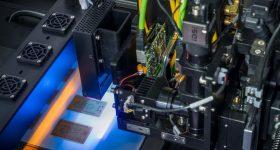 The DragonFly Pro 3D printing PCBs. Photo via Nano Dimension