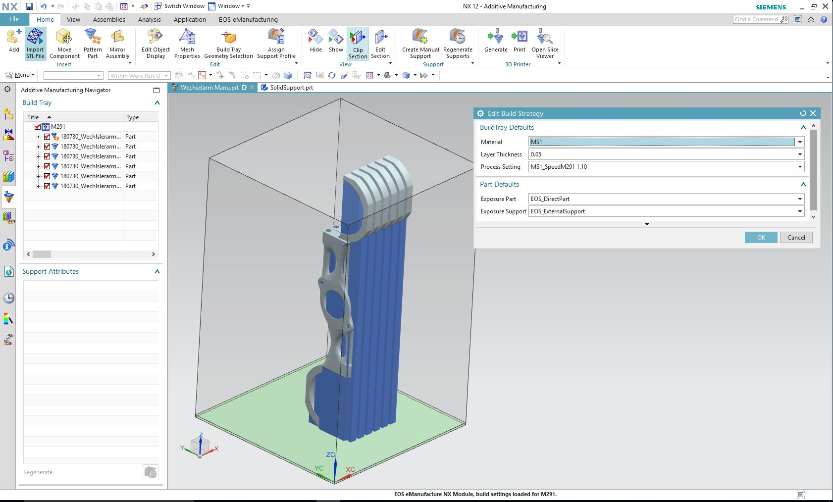 The EOSPRINT Driver for Siemens NX. Image via EOS.