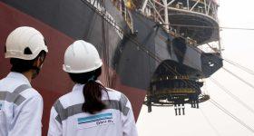 Surveyors on a shipbuilding project. Photo via DNV GL