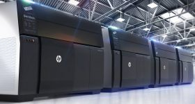 HP Metal Jet 3D printer systems. Photo via HP