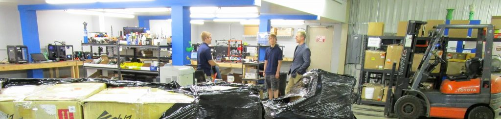 Inside the Fargo 3D Printer repair facility in North Dakota. Photo via Fargo 3D Printing.