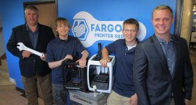 The Fargo 3D Printer Repair team. Photo via Fargo 3D Printing.