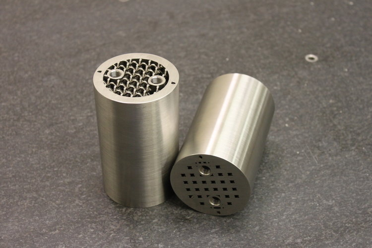 A hybrid SLM/CNC machined component made by Imperial in collaboration with Pennsylvania State University. Photo via Imperial Machine & Tool Co.