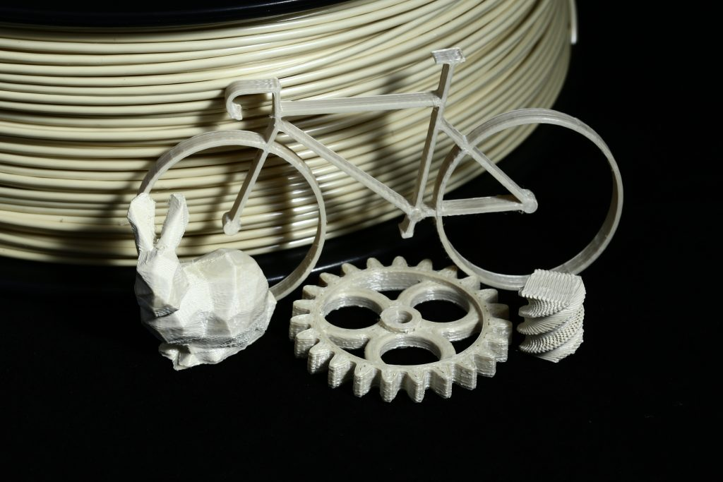 Samples of 3D printed LCP. Photo via ETH Zürich.