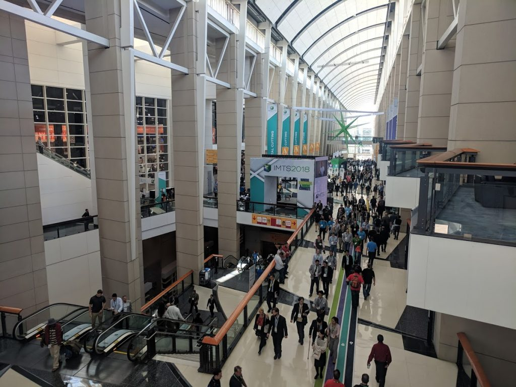 IMTS 2018 occupied all four building of McCormick Place. Photo by Michael Petch.