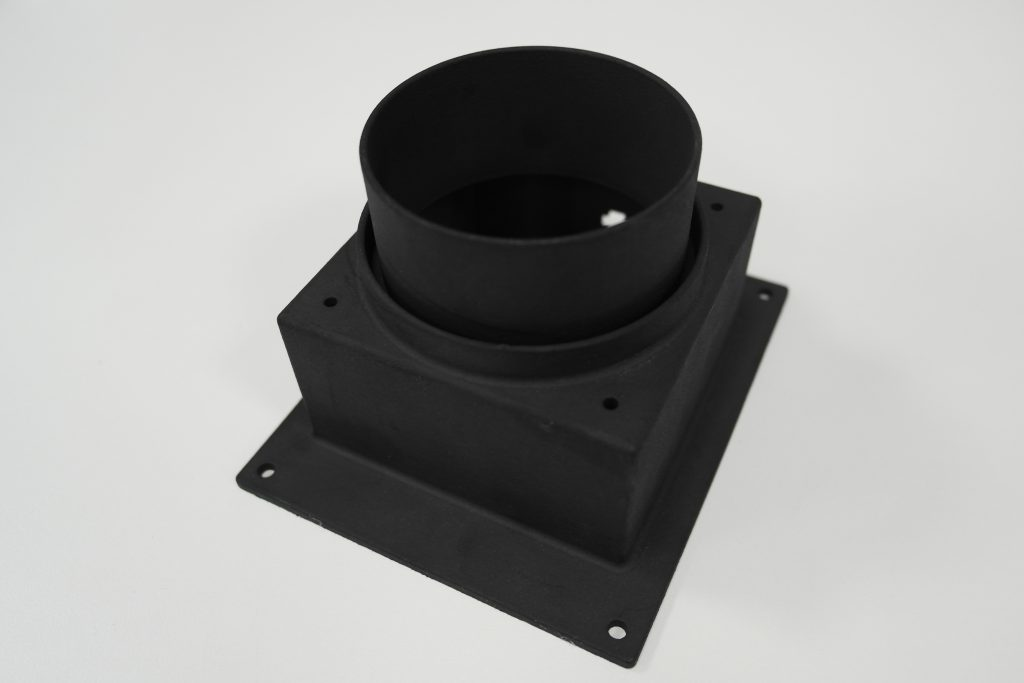 Laser cooling fan extraction shroud 3D printed in PA 618 - GS Black