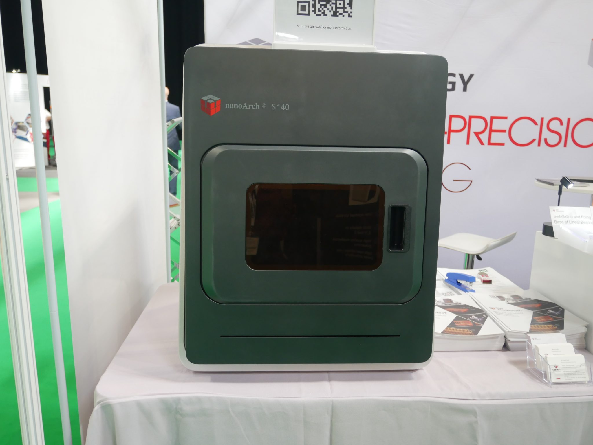 The NanoArch S140 3D printer from BMF MAterial Technology. Photo by Tia Vialva.