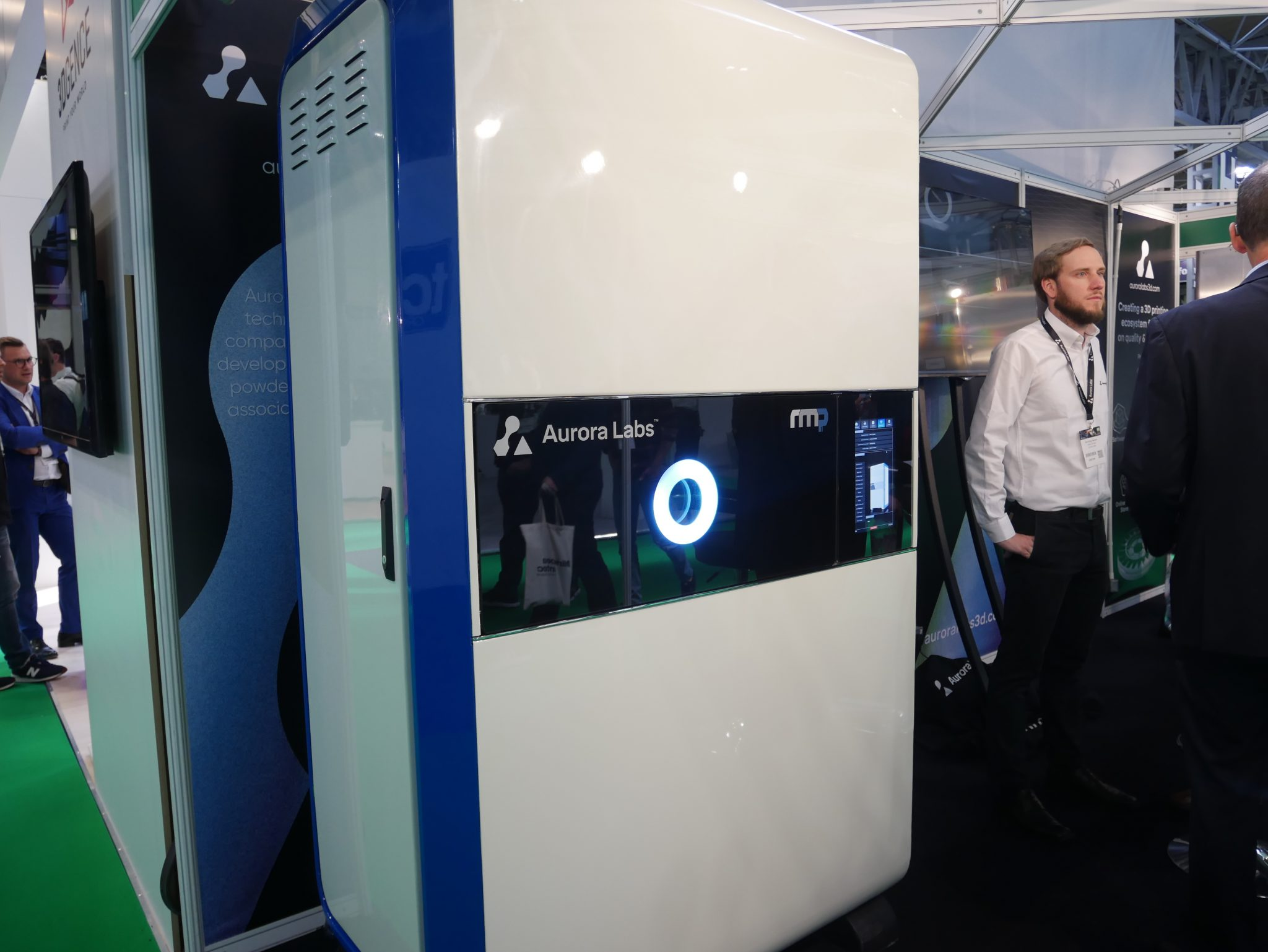 The large format Alpha 3D printer which will be released on a smaller scale as the RMP1 later this year. Photo by Tia Vialva.