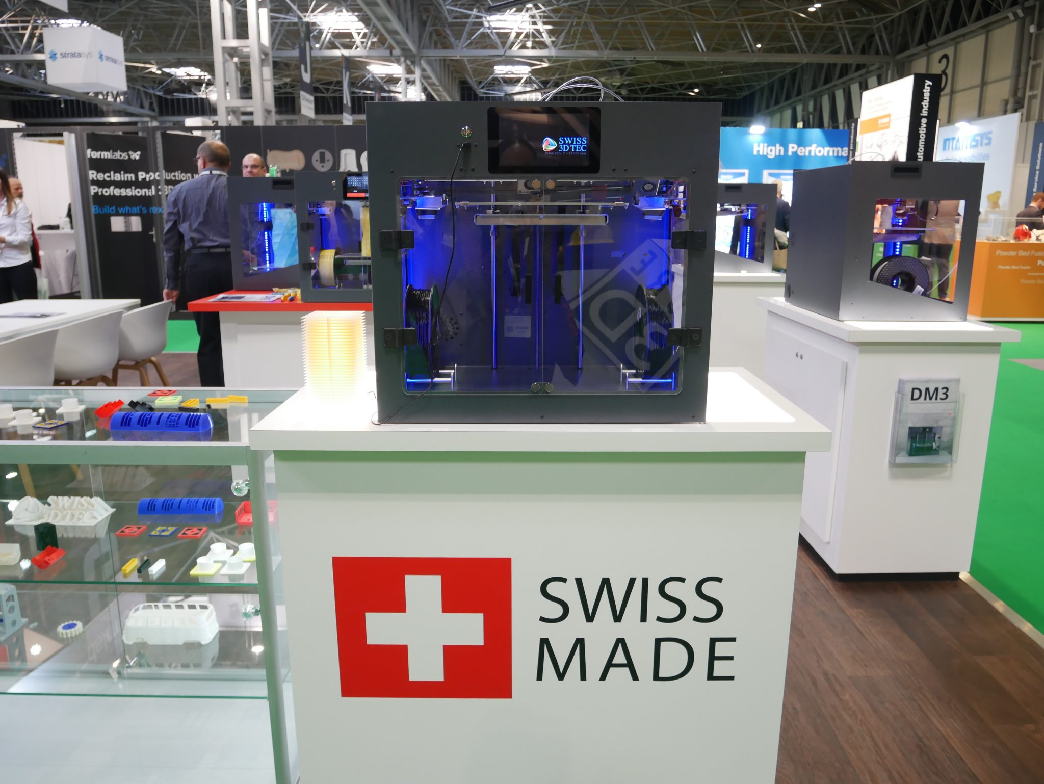 The DM3 printer from Swiss 3D TEC. Photo by Tia Vialva.