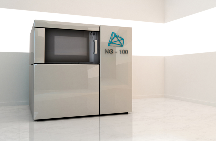The NG-100 3D printer. Image via Nanogrande