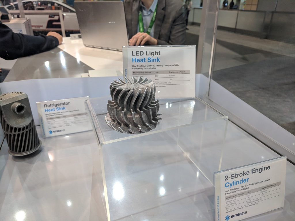 Stratasys metal 3D printing at IMTS 2018. Photo by Michael Petch.