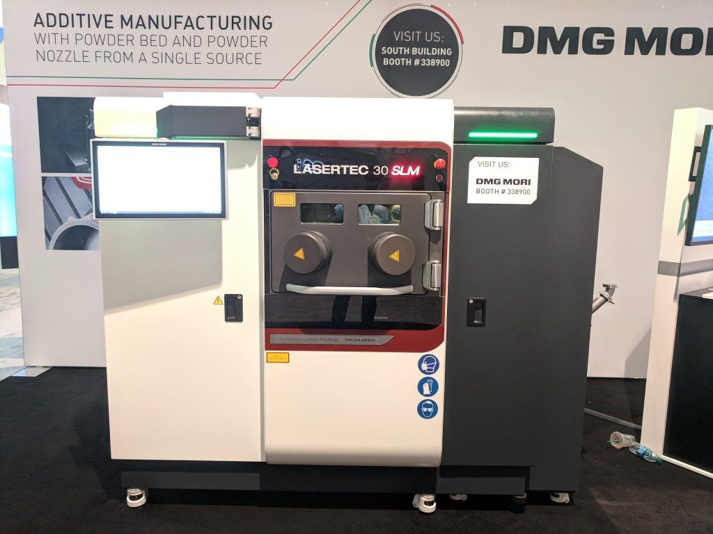 The DMG Mori LaserTec 30 SLM at IMTS 2018. Photo by Michael Petch.