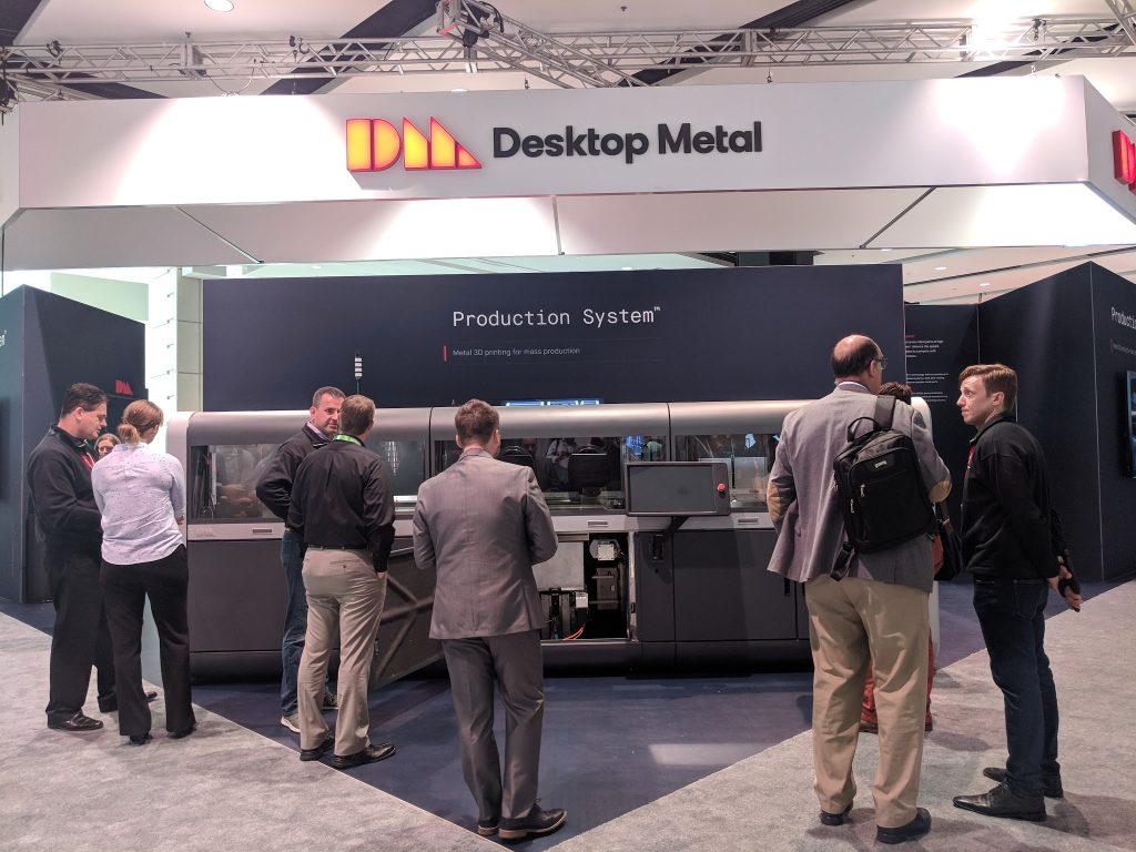 The Desktop Metal Production system at IMTS 2018. Photo by Michael Petch.