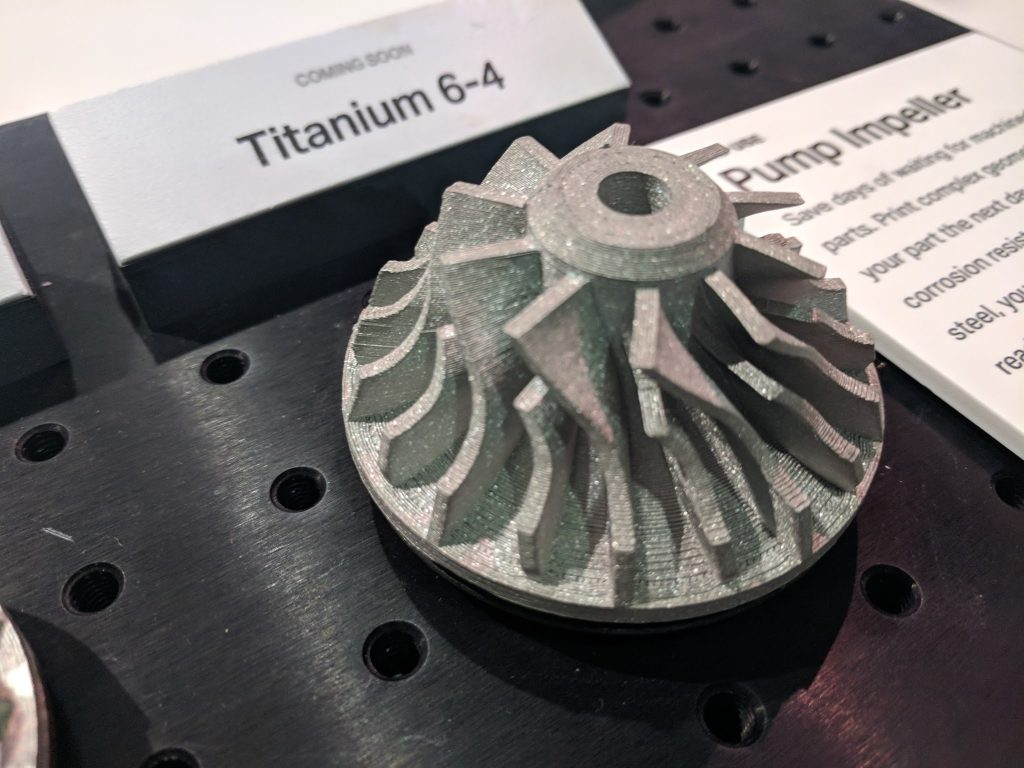 Titanium 3D printed on the Markforged Metal X. Photo by Michael Petch.