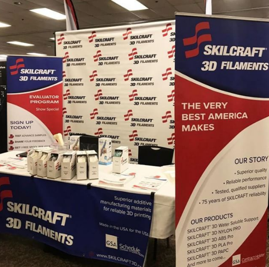 The SKILCRAFT 3D exhibition at the Wright-Patterson Air Force Base Technology Expo. Photo via SKILCRAFT 3D.