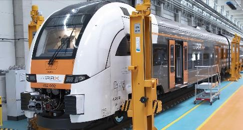 A train being serviced at the Siemens Mobility RRX Rail Service Center. Photo via Stratasys.