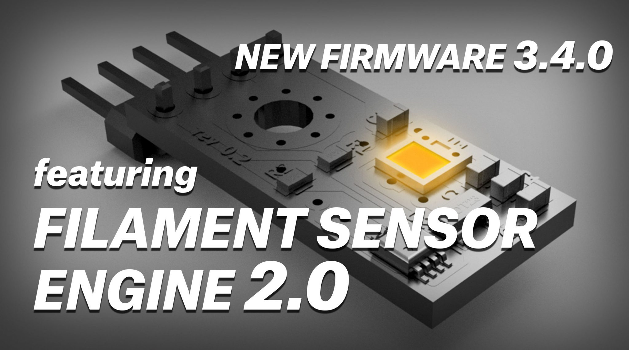 Prusa's firmware upgrade with improved filament sensor. Image via Prusa3D