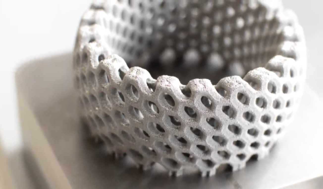 The first component printed using LFT. Photo via Aurora Labs.