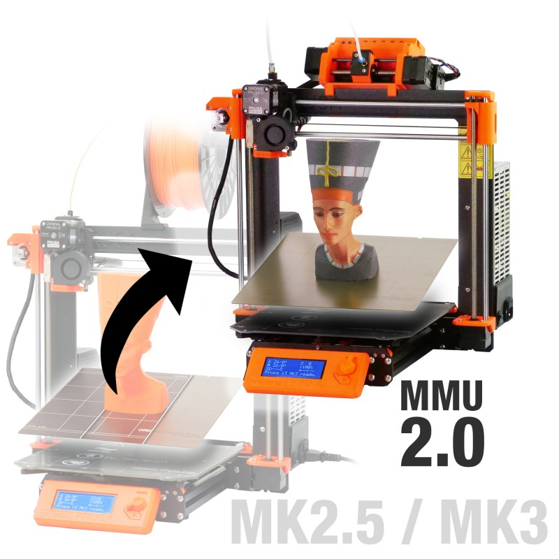 The Original Prusa i3 MK3 with Multi Material Upgrade 2.0. Image via Prusa3D