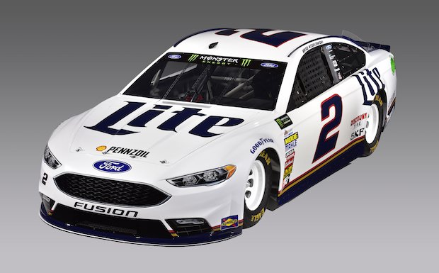 The No. 2 Team Penske NASCAR Cup Car with integrated 3D printed parts. Photo via Team Penske.