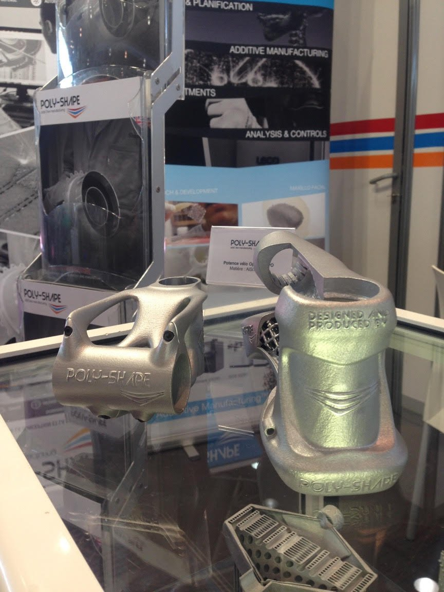 A bike stem optimized for the Fabrication Additive by Poly-Shape in 2016. Photo via Poly-Shape