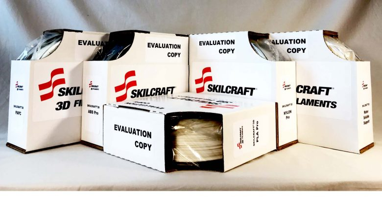 SKILCRAFT3D filaments. Photo via SKILCRAFT3D.