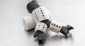 3D printed tracheal splints. Photo via Georgia Tech.