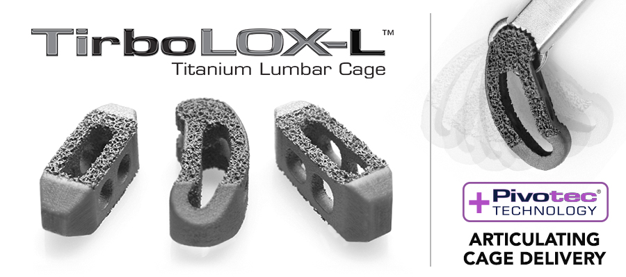 Captiva Spine's TirboLOX-L 3D printed lumbar cages. Image via Captiva Spine
