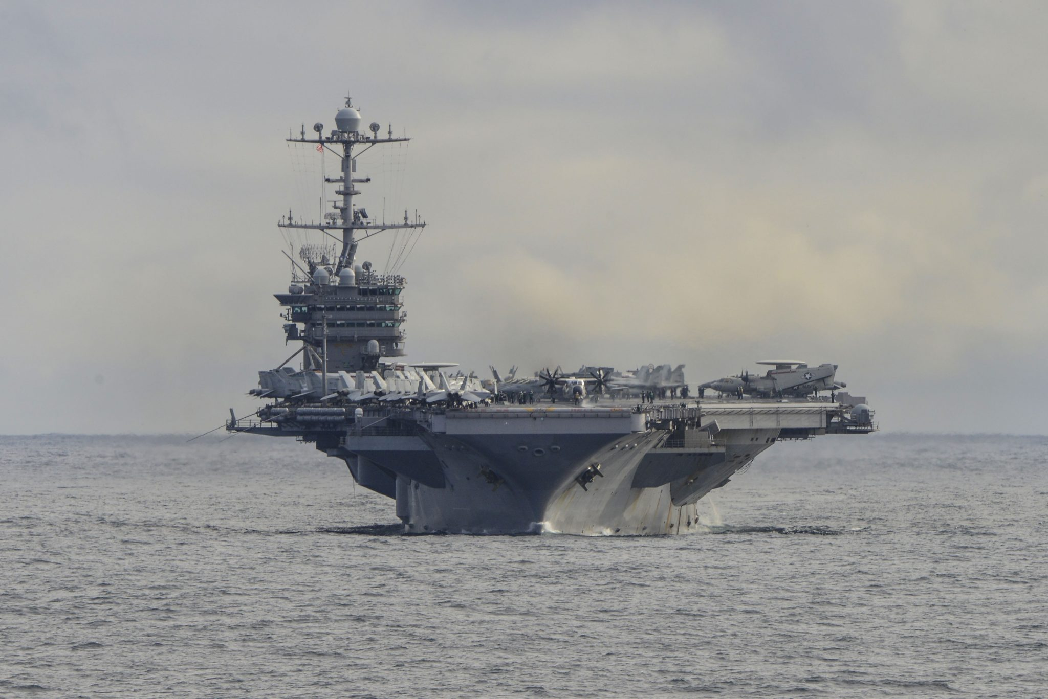 The USS Harry S. Truman (CVN 75). Photo via the U.S. Navy/ Michael Chen.