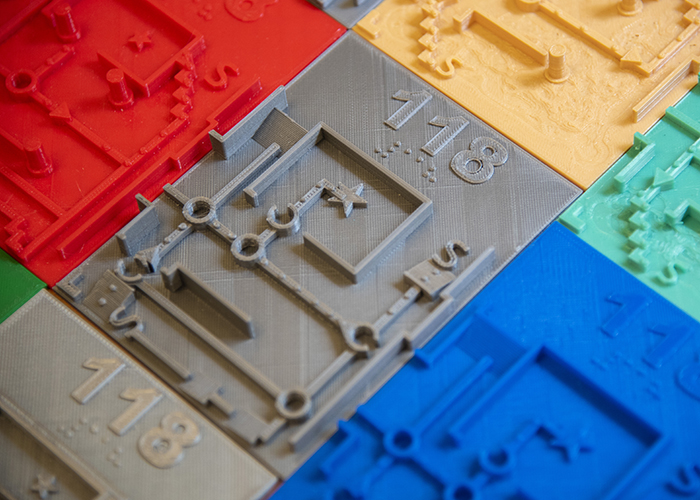 The 3D printed tactile maps for the visually impaired. Photo via USF.
