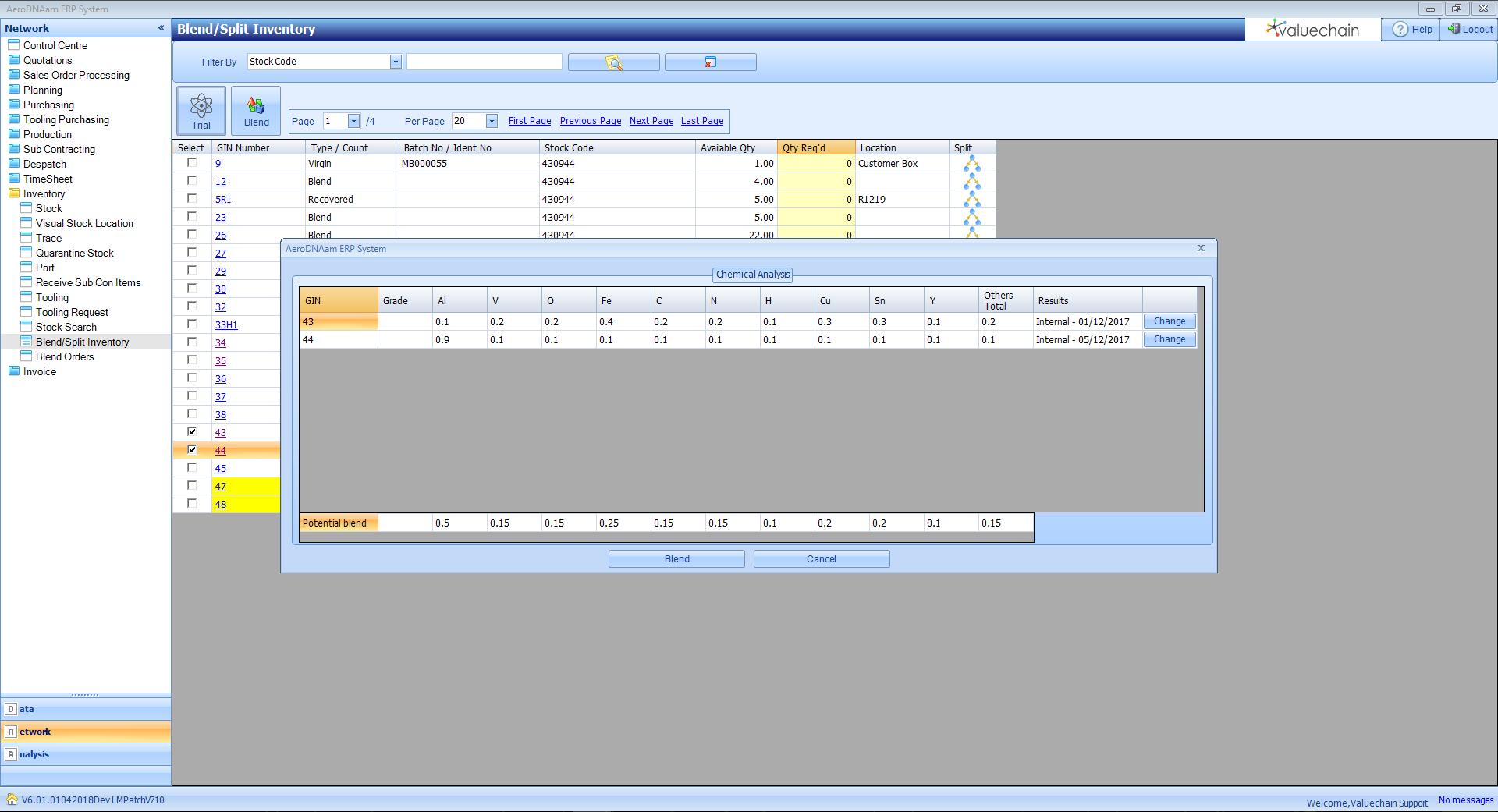 Chemical Analysis window in DNAam. Image via Valuechain