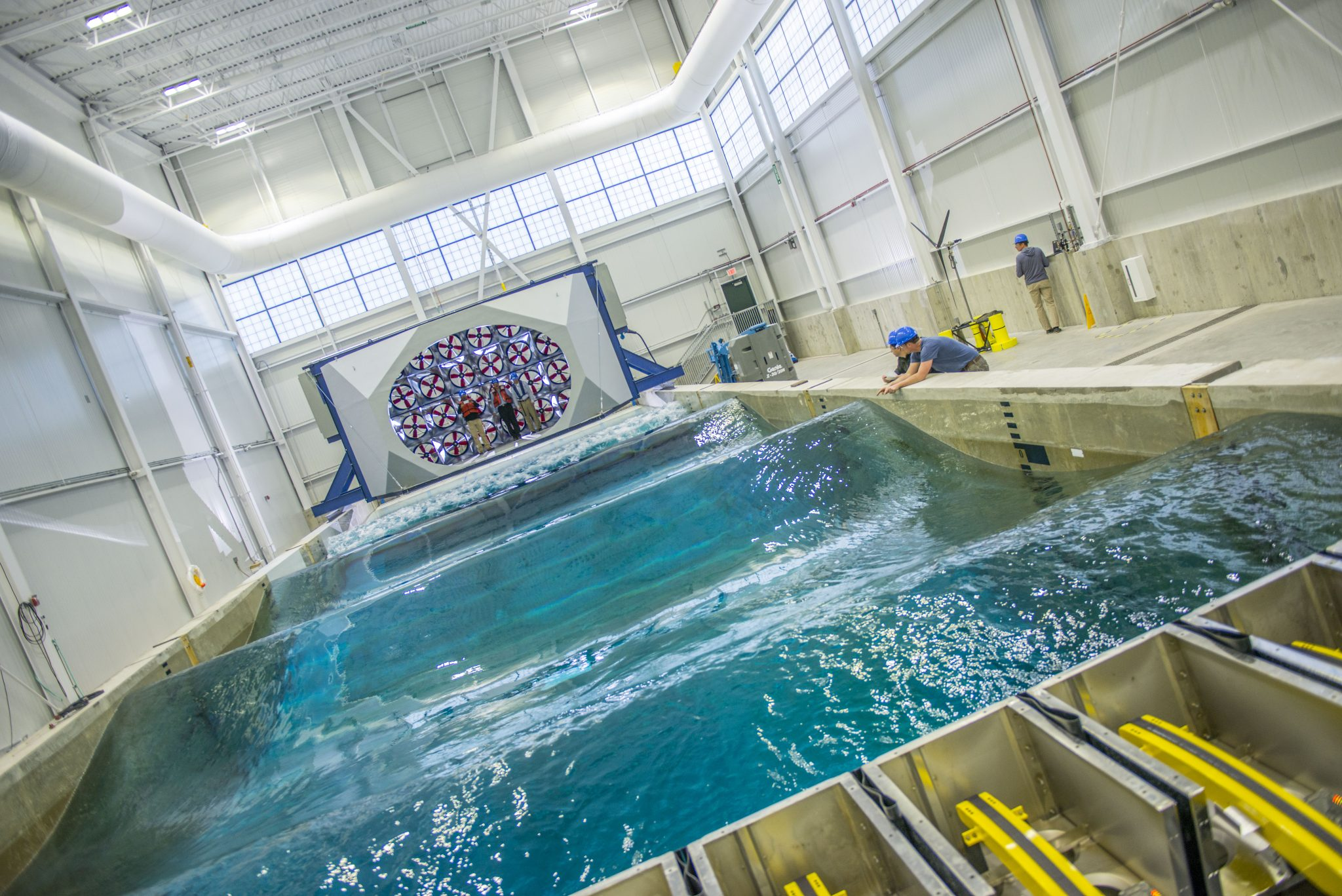 the Alfond W2 Ocean Engineering Lab at the UMaine Composites Center. Image via UMaine