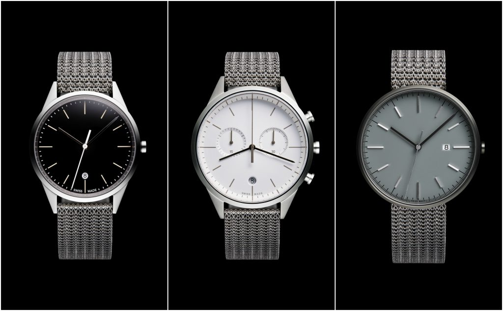 The PreciDrive M-Line collection with Betatype-designed 3D printed straps. Photos via Uniform Wares