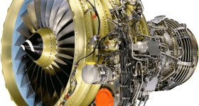 A CFM56-7B engine which powers the Boeing 737. Image via CFM