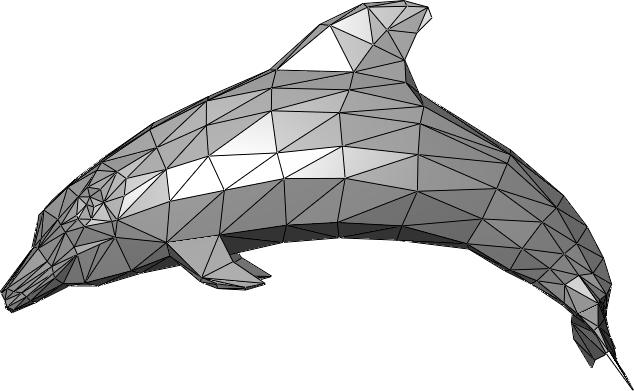 Dolphin .stl triangle mesh. Image via Chrschn/Wikimedia Commons
