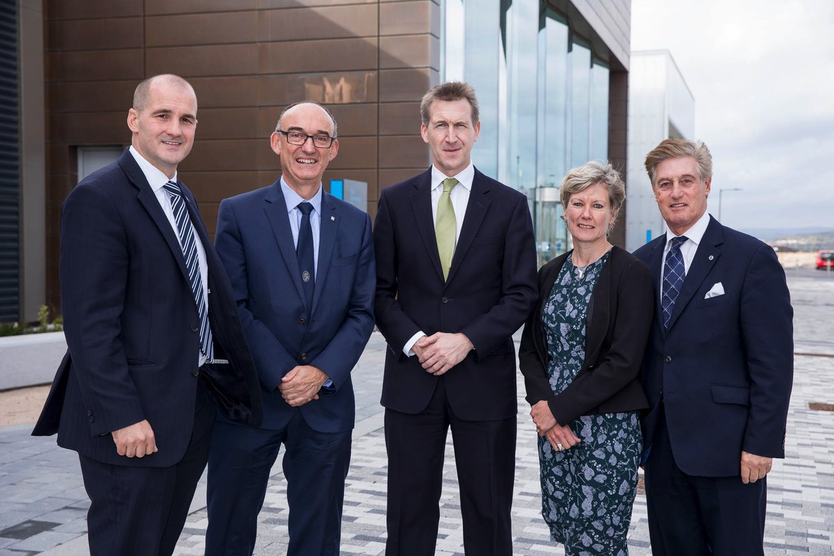 Left to right: MP Jake Berry, Professor Mike Hounslow, Mayor Dan Jarvis, Professor Gill Valentine, and James Newman, Chairman of the Sheffield City Region. Photo via the University of Sheffield.