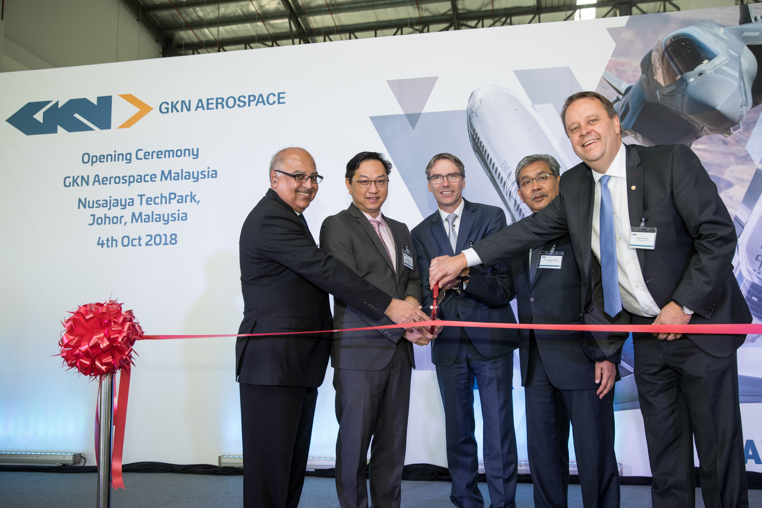 The opening ceremony of the new GKN's repair site. Image via GKN