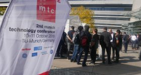 Outside the Second Munich Technology Conference. Photo by Tia Vialva.
