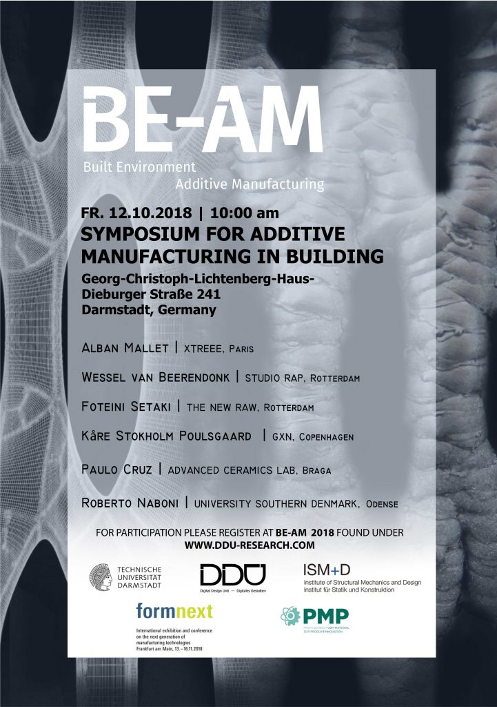 Poster for BE-AM Symposium. Image via DDU.