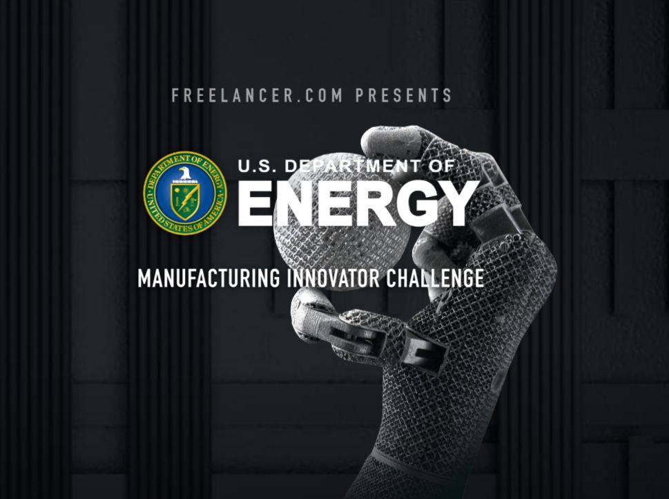 The Manufacturing Innovator Challenge poster. Image via Freelancer