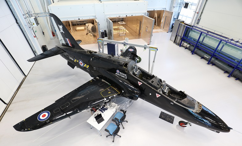 An aircraft within the University of Sheffield's research facilities. Photo via the University of Sheffield.